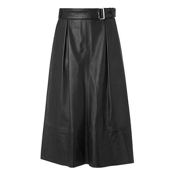 Breanne Black Leather Skirt