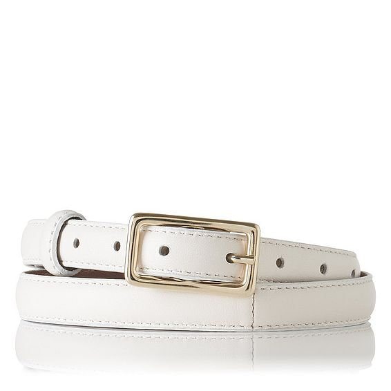 Glenda Cream Leather Belt