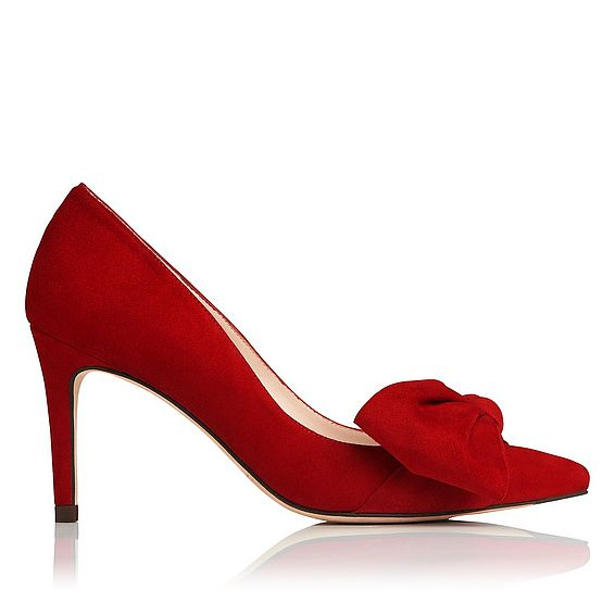 Caitlyn Roca Red Suede Closed Courts