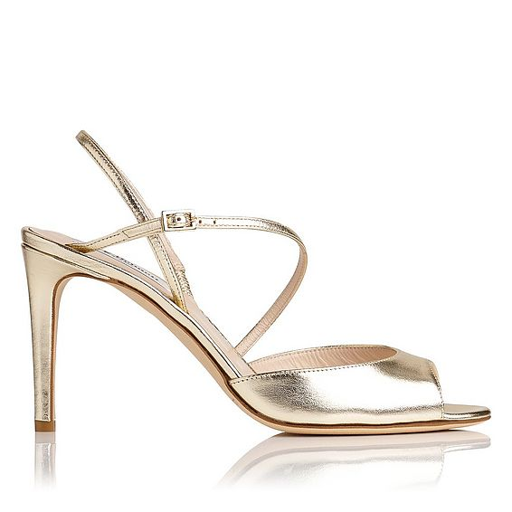 Camilla Gold Leather Formal Sandals