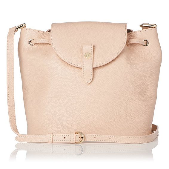 Carol Natural Grained Leather Shoulder Bag