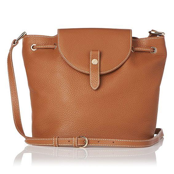 Carol Tan Grained Leather Shoulder Bag