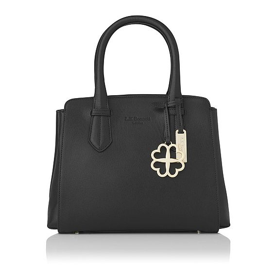 Cassandra Black Saffiano Leather Tote