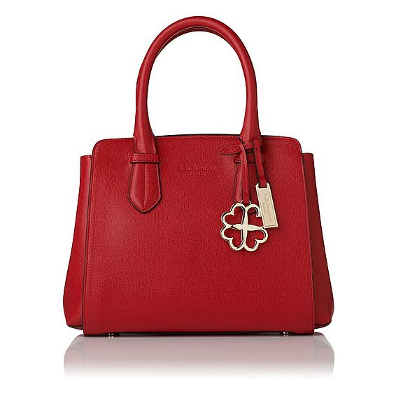 Cassandra Red Saffiano Leather Tote