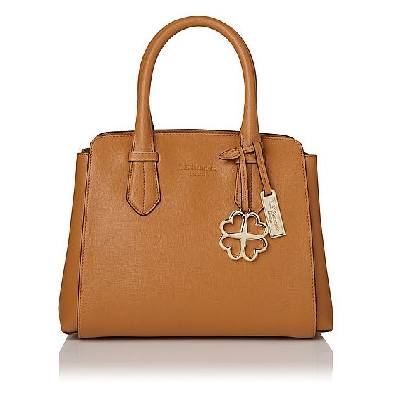 Cassandra Tan Saffiano Leather Tote