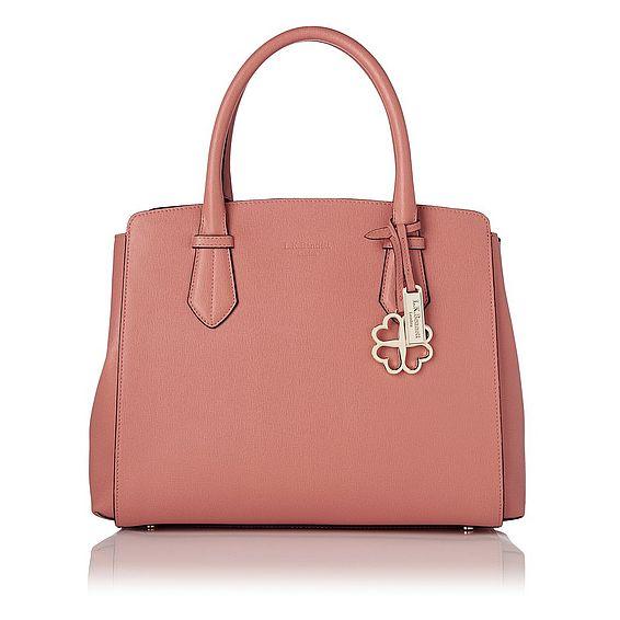 Catrina Dark Pink Saffiano Leather Tote