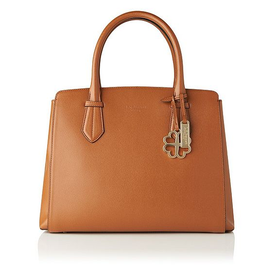 Catrina Tan Saffiano Leather Tote