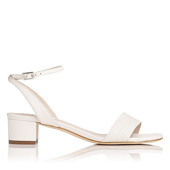 Charline Cream Leather Formal Sandals