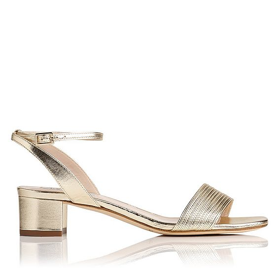 Charline Gold Leather Formal Sandals
