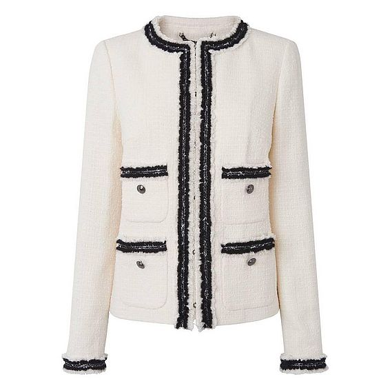Charl Cream Cotton Mix Jacket