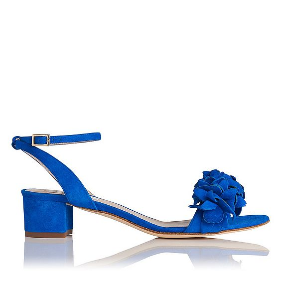 Coralie Blue Suede Formal Sandals