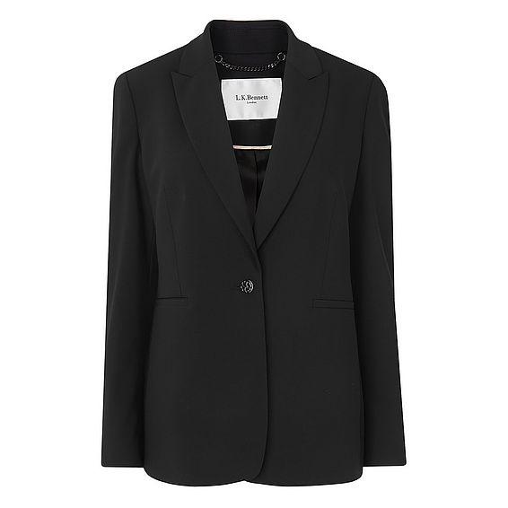 Cosima Black Wool Mix Jacket
