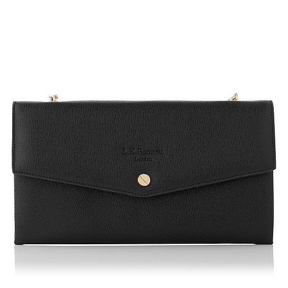 Dakoda Black Saffiano Leather Shoulder