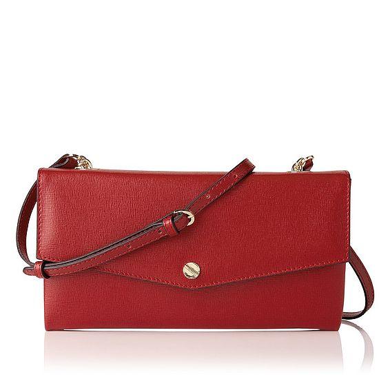 Dakoda Roca Red Saffiano Leather Shoulder