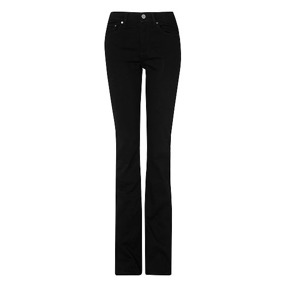 Dana Black Cotton Elastane Trouser