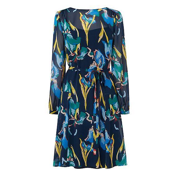 Darcy Blue Silk Dress