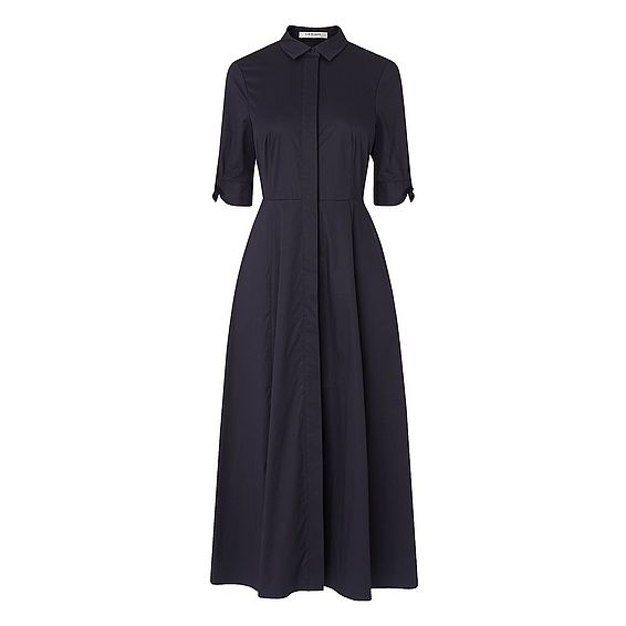 Darly Navy Cotton Dress