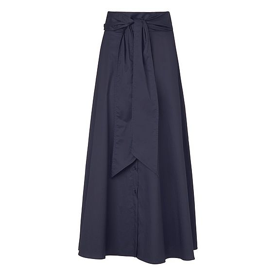 Darly Navy Cotton Skirt