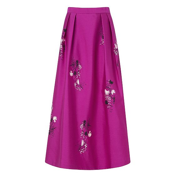 Delisa Orchid Cotton Silk Skirt