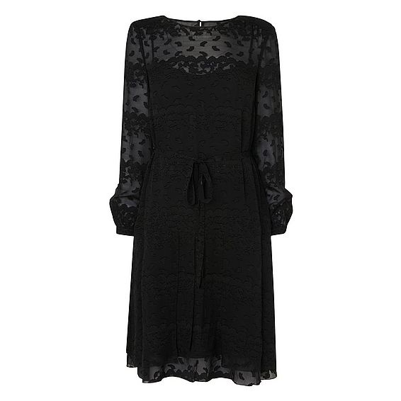 Ditas Black Silk Viscose Dress
