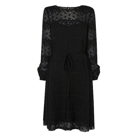 Ditas Black Silk Viscose Dress