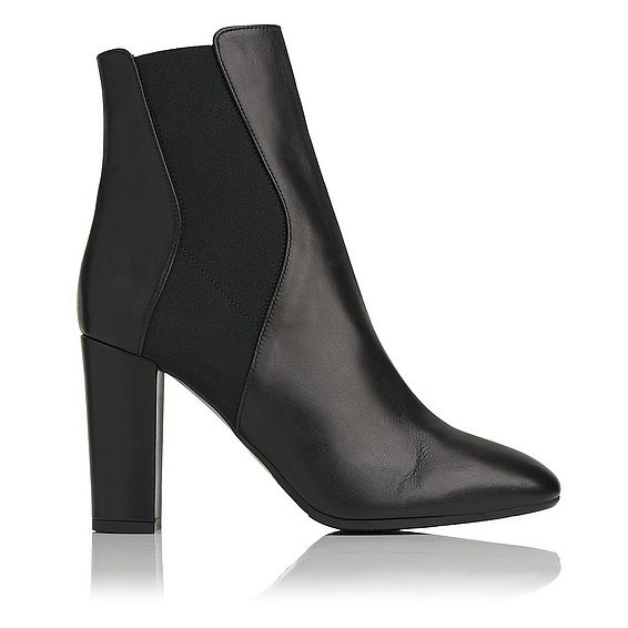 Ebbe Black Leather Ankle Boots