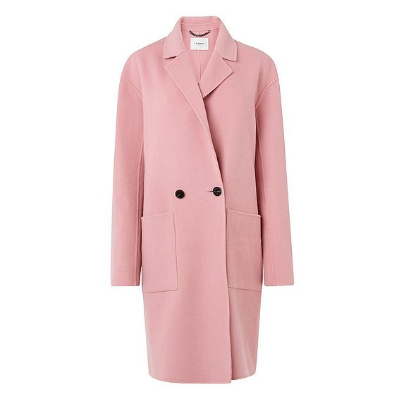 Eden Pink Wool Coat