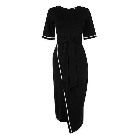 Eliana Black Viscose Dress