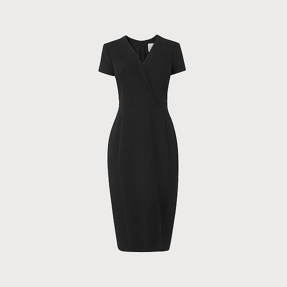 Eline Black Viscose Dress