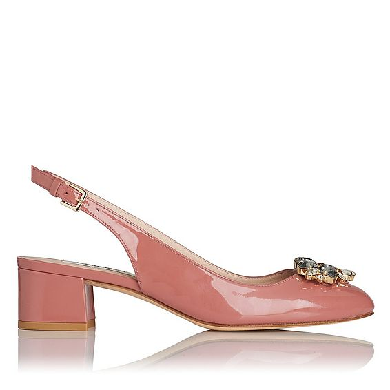 Elvira Dark Pink Patent Courts
