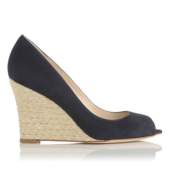 Estela Navy Suede Open Courts