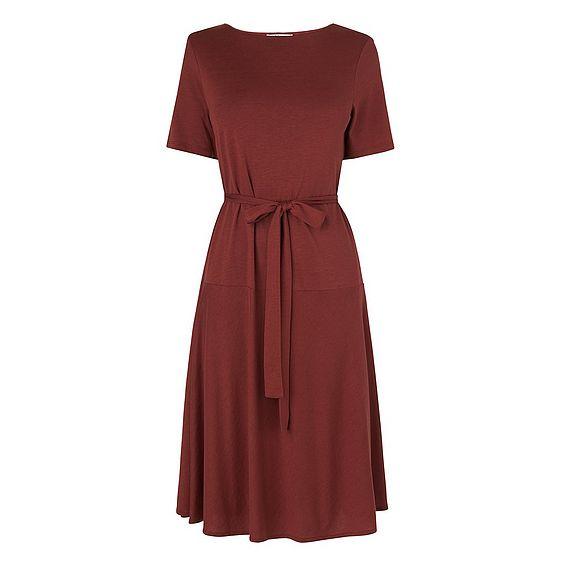 Evelyn Pink Cotton Mix Dress