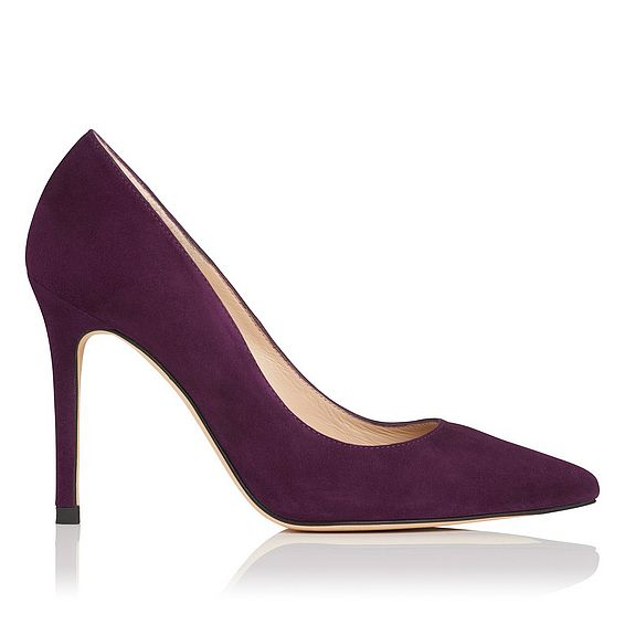 Fern Purple Suede Closed Courts