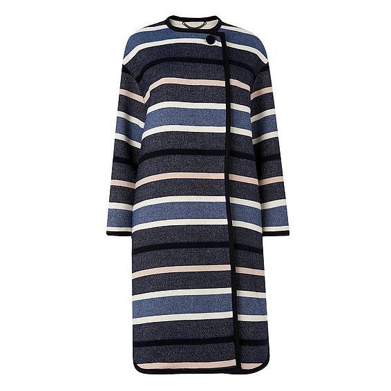 Finley Blue Cotton Mix Coat