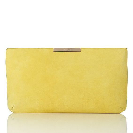 Flora Lime Suede Clutch