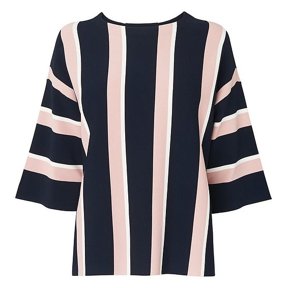 Floretta Navy Striped Jumper