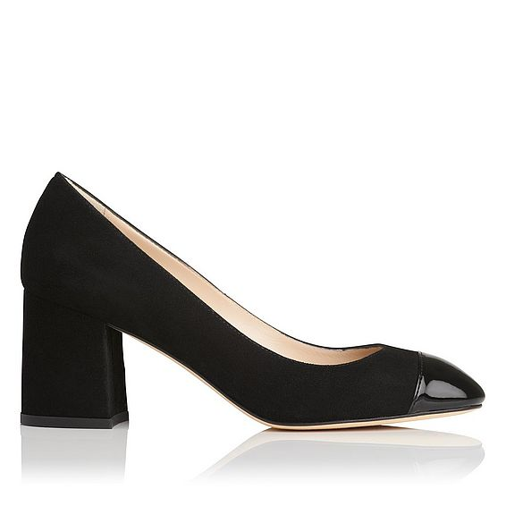 Francesca Black Suede Closed Courts