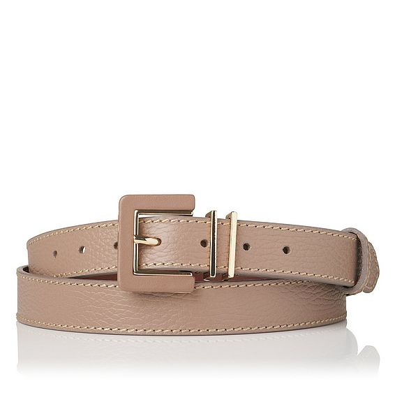 Giuly Brown Grained Leather Belt