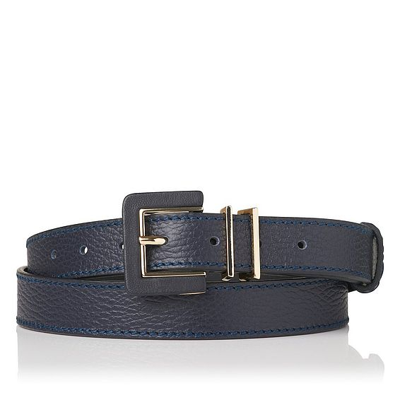 Giuly Blue Grained Leather Belt