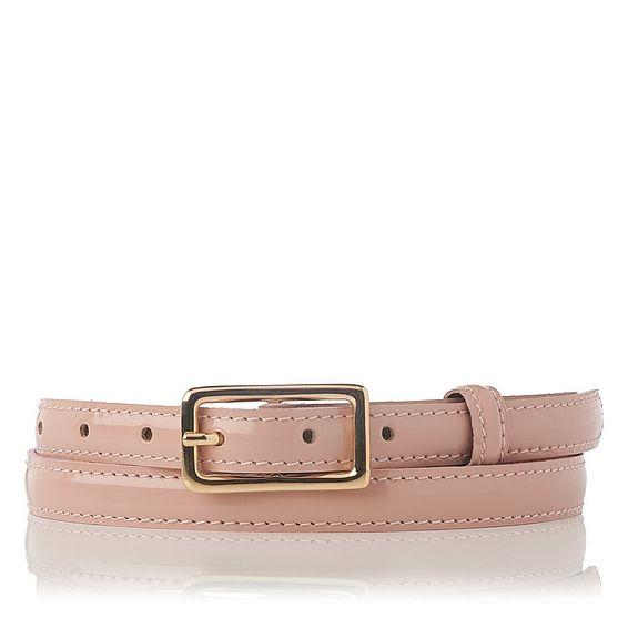 Glenda Pink Patent Belt