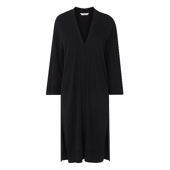 Gloria Black Silk Cotton Cardigan