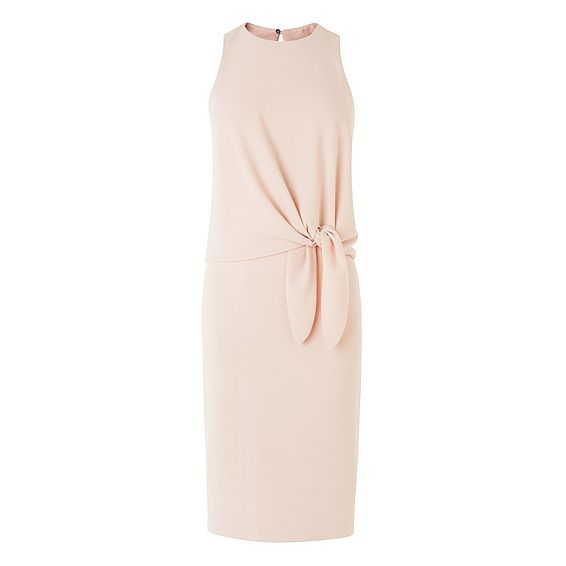 Harrie Natural Tie Detail Dress