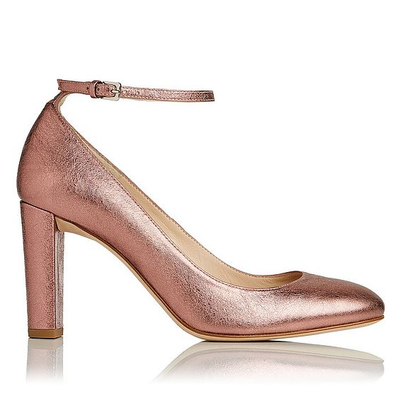 Imogen Metallic Pink Leather Courts