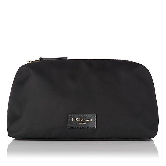 Indina Black Cosmetic Bag - Medium