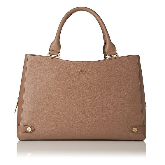 Isabella Brown Grained Leather Tote Bag
