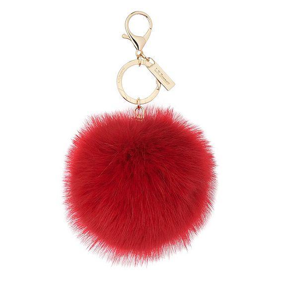 Ivy Red Faux Fur Pom-Pom Key Chain