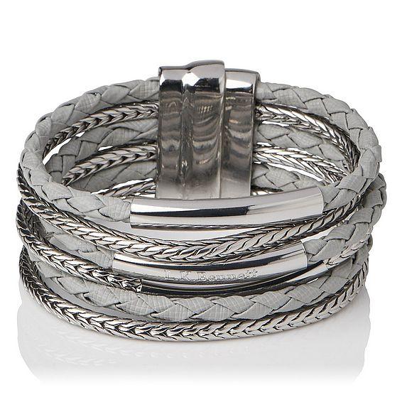 Jasmine Silver Metal Bracelet