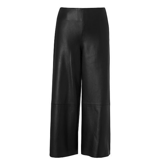 Jody Black Leather Trouser