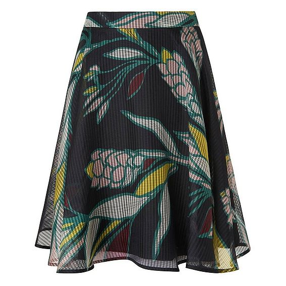 Kalia Black Silk Skirt