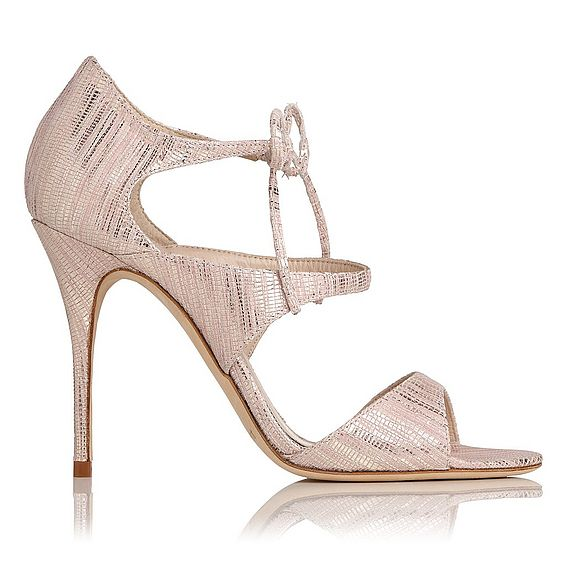 Karlie Blush Metallic Lizard Formal Sandals